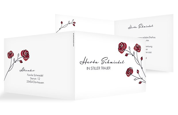Trauerkarte Roses