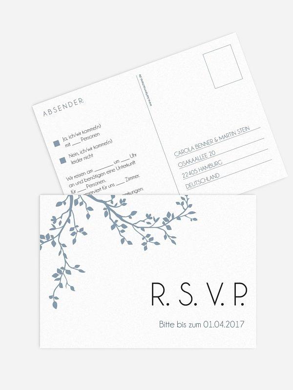 Antwortkarte Hochzeit Vereint