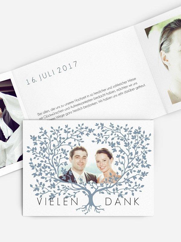 Dankeskarte Hochzeit Vereint
