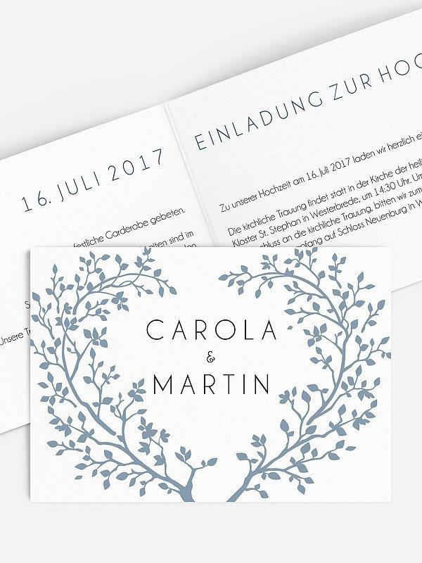 Hochzeitseinladung Vereint