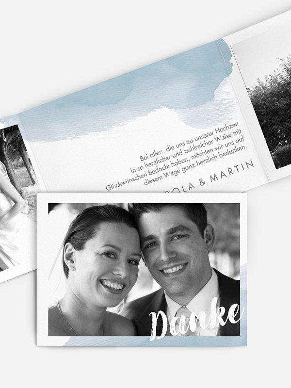 Dankeskarte Hochzeit Painty