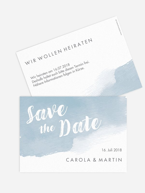 Save-the-Date Karte Painty