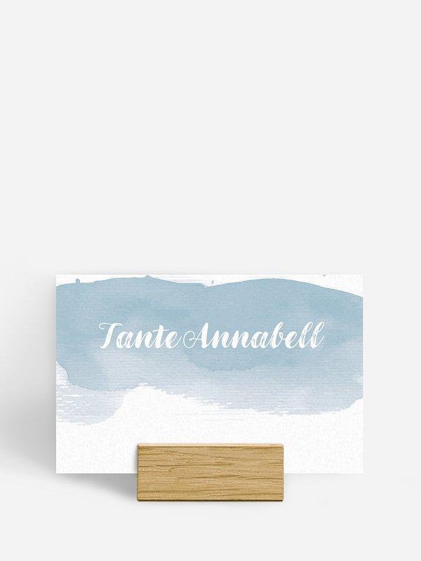 Tischkarte Hochzeit Painty