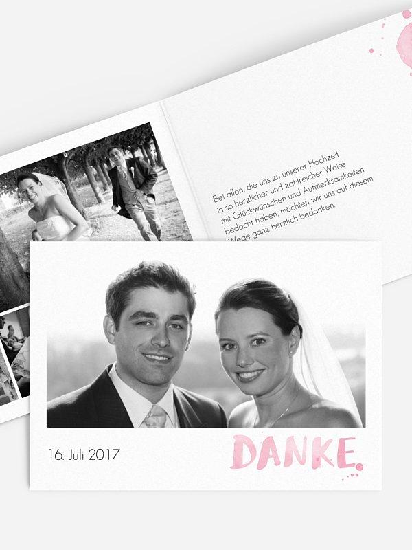 Dankeskarte Hochzeit Brush Lettering