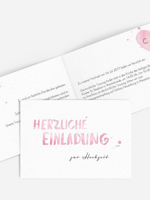 Hochzeitseinladung Brush Lettering