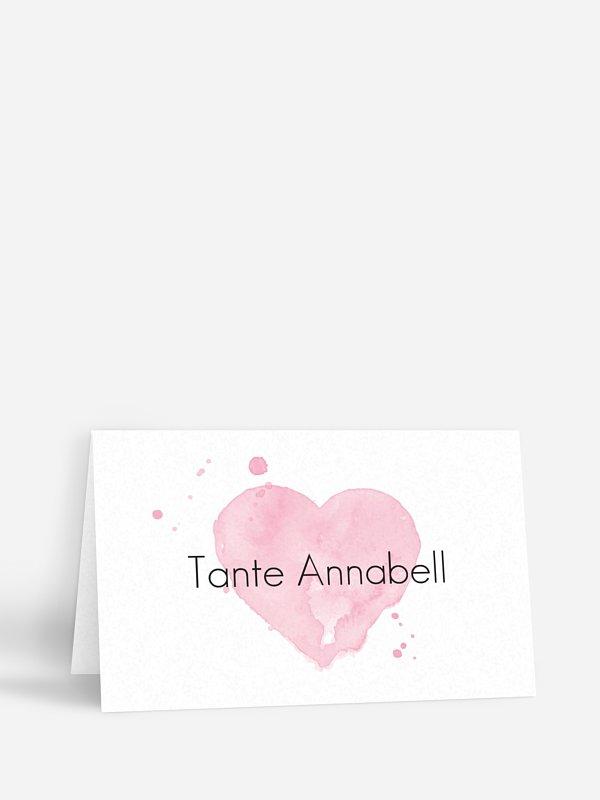 Tischkarte Hochzeit Brush Lettering