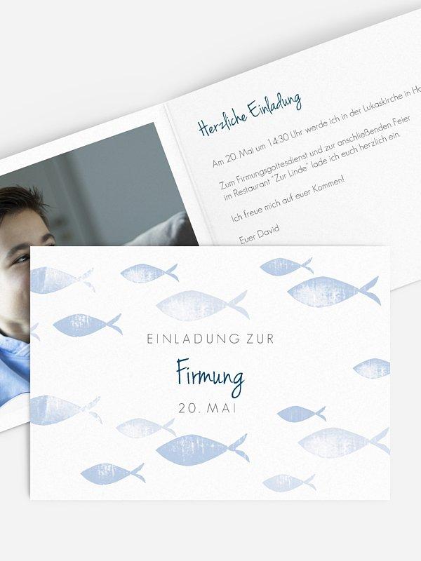 Einladung Firmung Fischschwarm