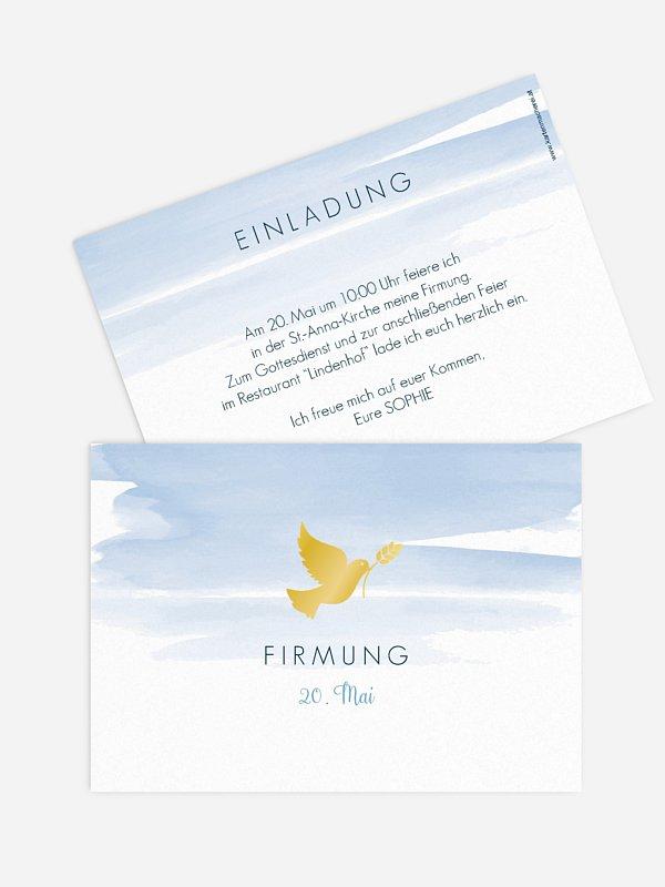 "einladungskarten firmung ""aquarellbild"""