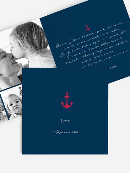 Faire-part adoption Ancre d'amour