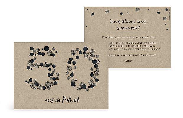 invitation anniversaire 50 Let It Sparkle