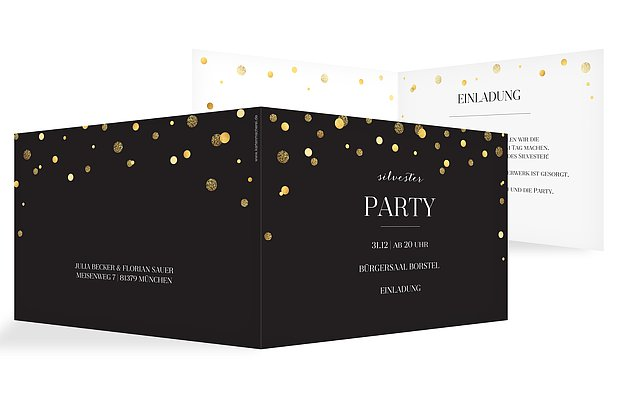 Partyeinladung Let It Sparkle