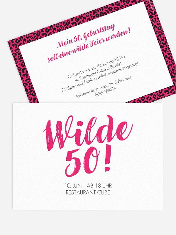 Einladung 50. Geburtstag Wild