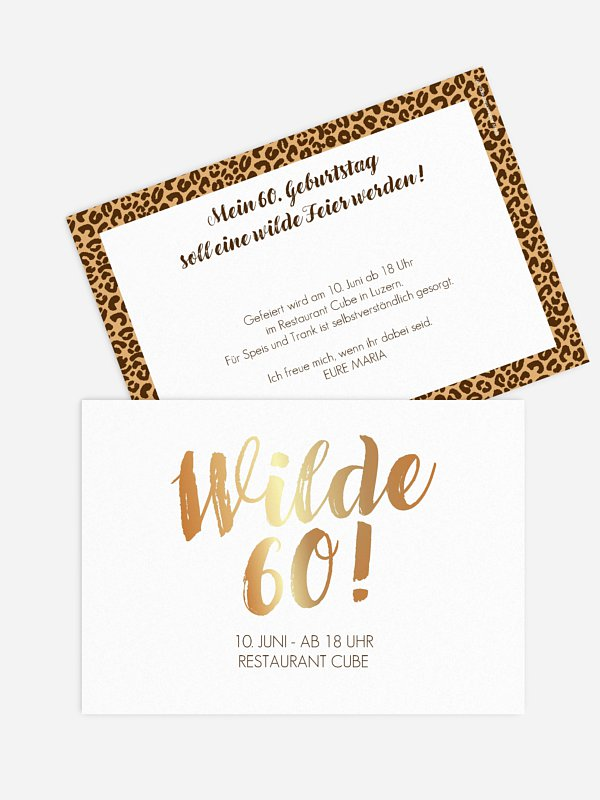 Einladung 60. Geburtstag Wild