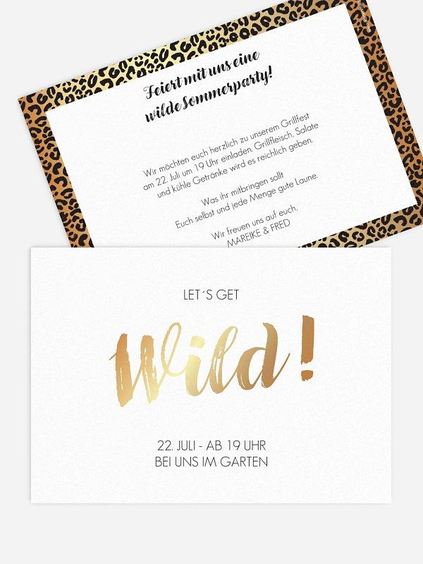 Partyeinladung Wild