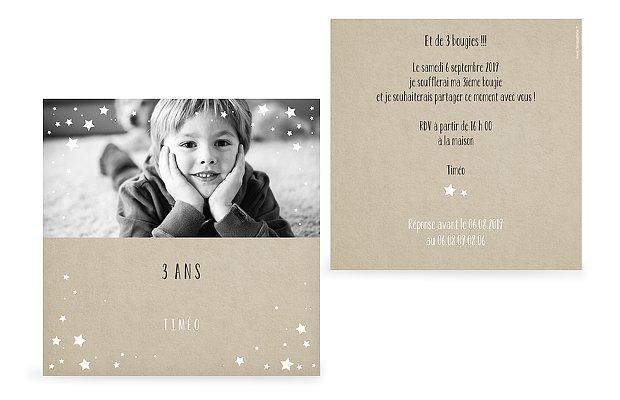 invitation anniversaire enfant Couronne d'étoiles