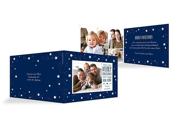 Weihnachtskarte Firmament