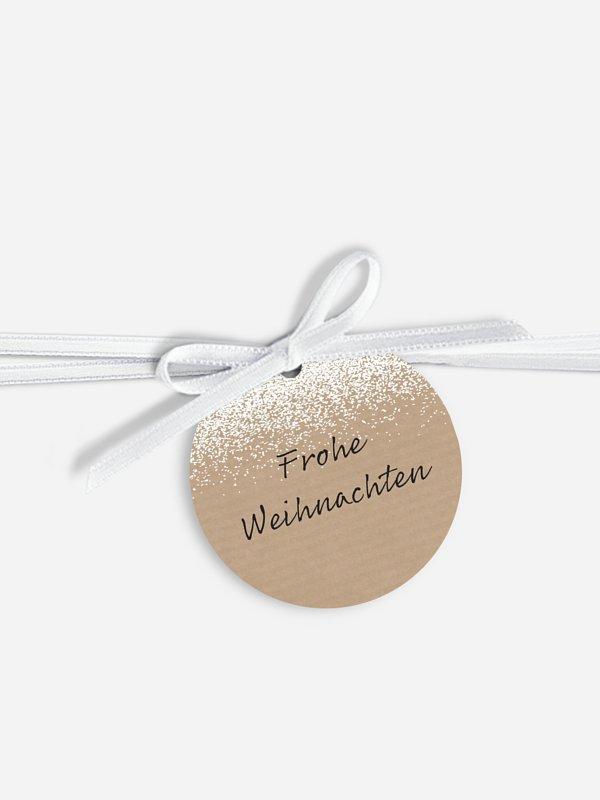 Geschenkeanhänger Puderzucker