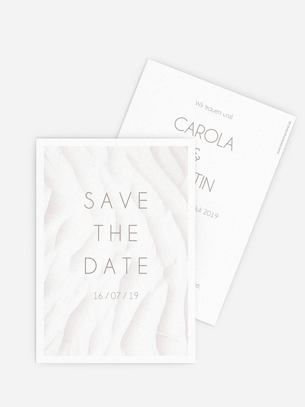 Save-the-Date Karte Seaside