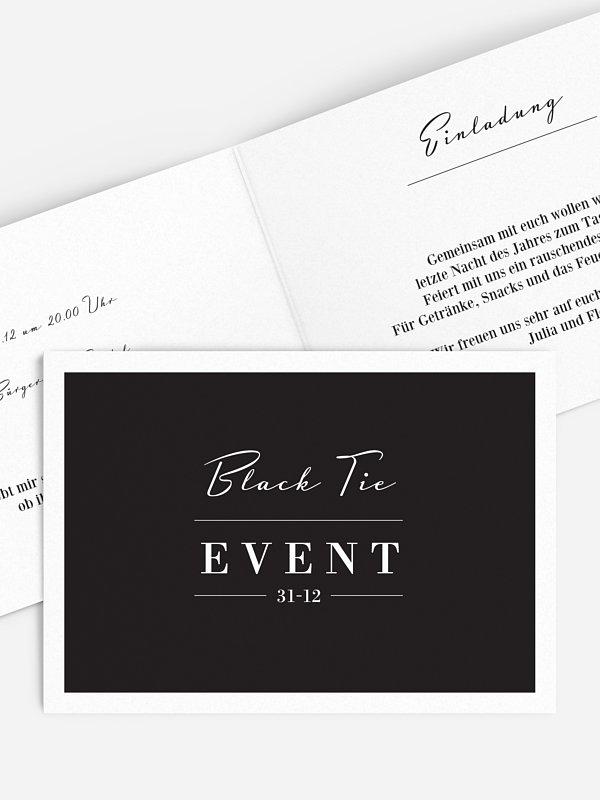Partyeinladung Cravate Noire