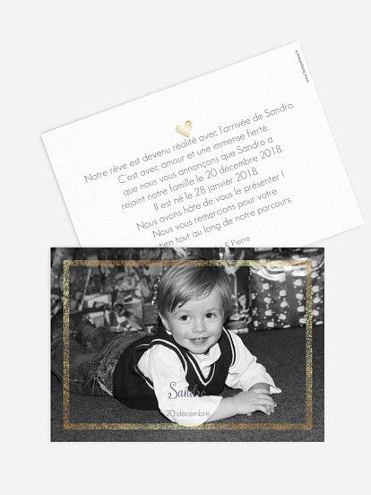 Faire-part adoption Portrait chic