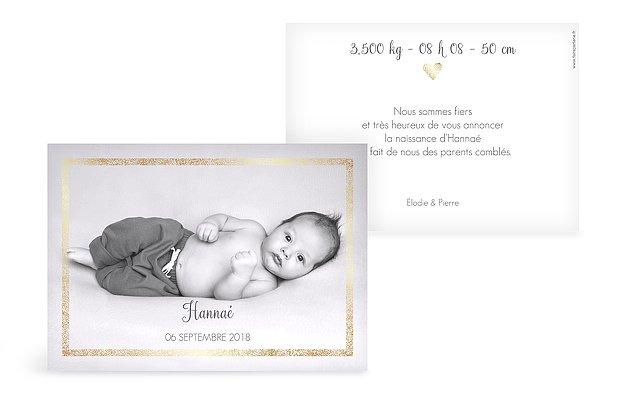 Faire-part naissance Portrait chic