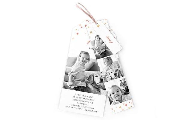 invitation anniversaire enfant Pluie d'amour