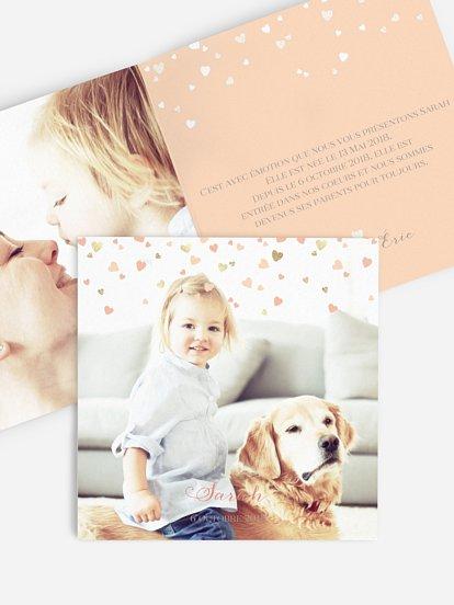 Faire-part adoption Pluie d'amour