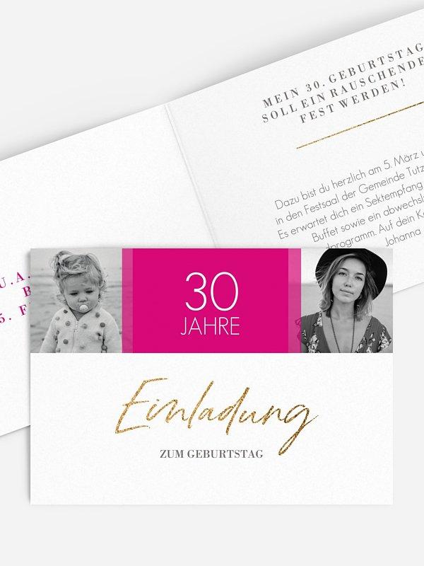 Einladung 30. Geburtstag Funkelnde Jahre