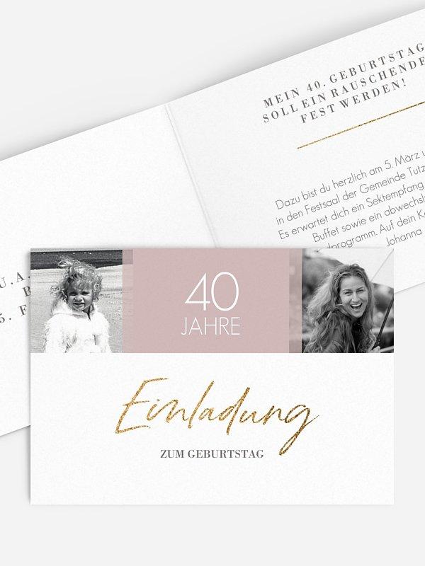 Einladung 40. Geburtstag Funkelnde Jahre