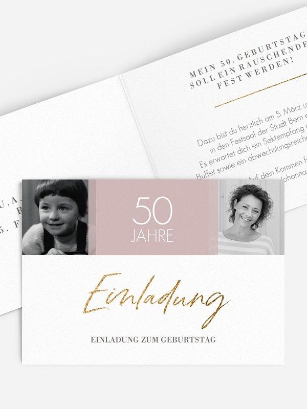 Einladung 50. Geburtstag Funkelnde Jahre