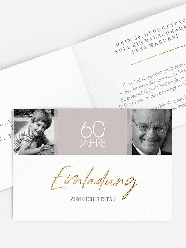 Einladung 60. Geburtstag Funkelnde Jahre