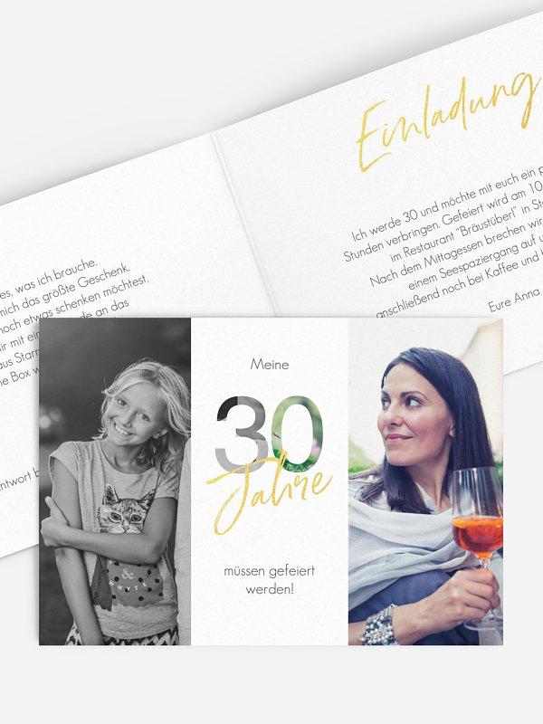 Einladung 30. Geburtstag Ehrentag