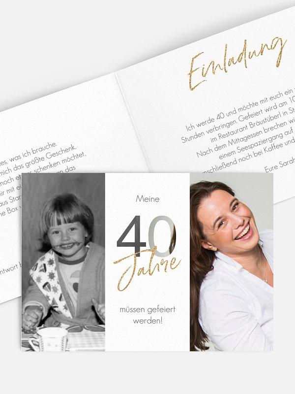 Einladung 40. Geburtstag Ehrentag