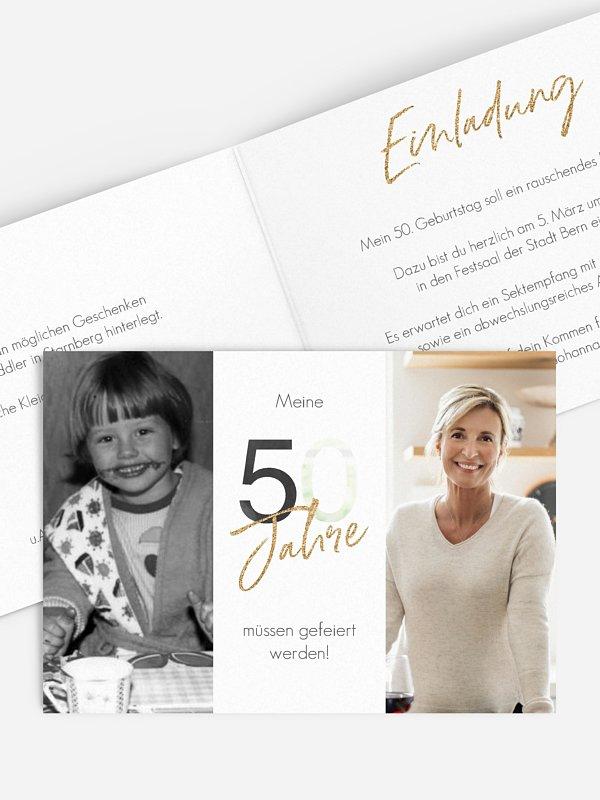 Einladung 50. Geburtstag Ehrentag
