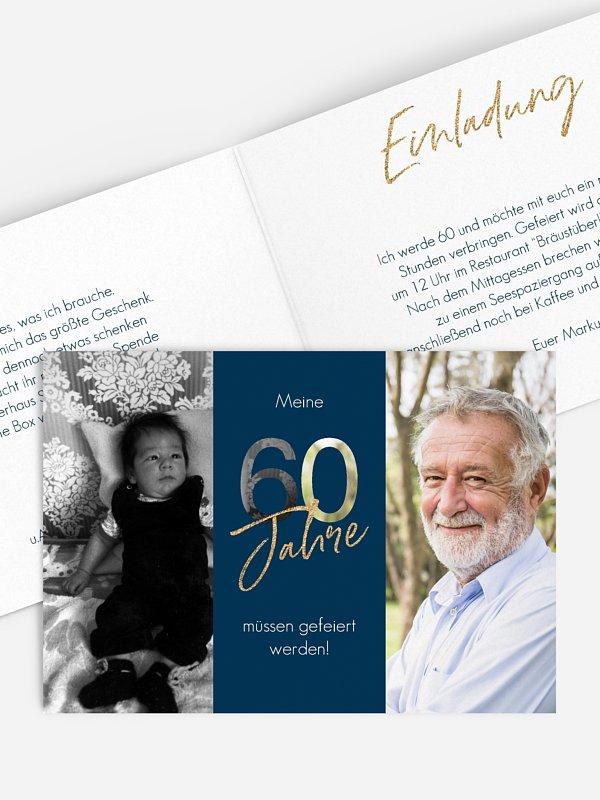 Einladung 60. Geburtstag Ehrentag