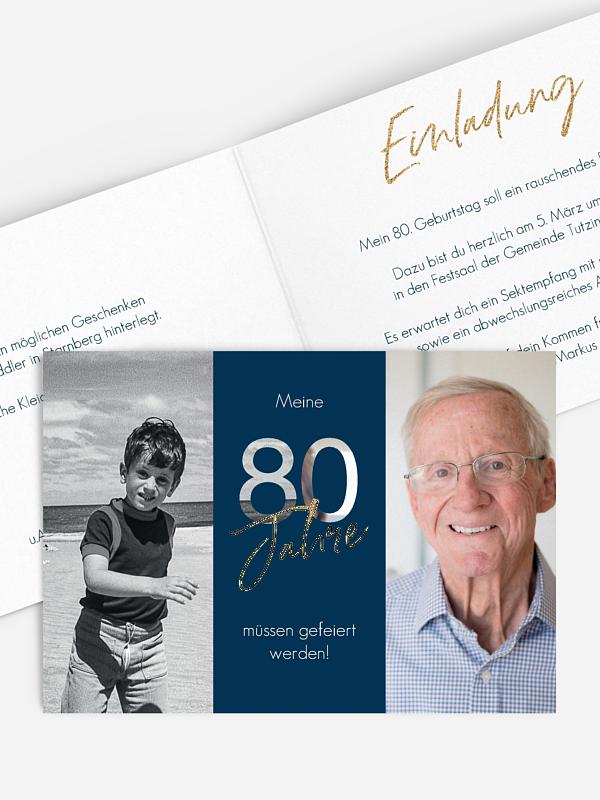 Einladung 80. Geburtstag Ehrentag