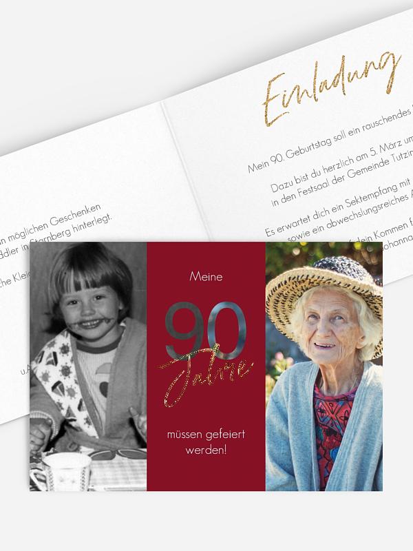 Einladung 90. Geburtstag Ehrentag
