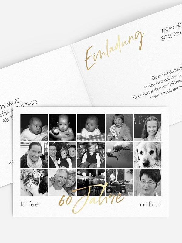 Einladung 60. Geburtstag Meine Jahre