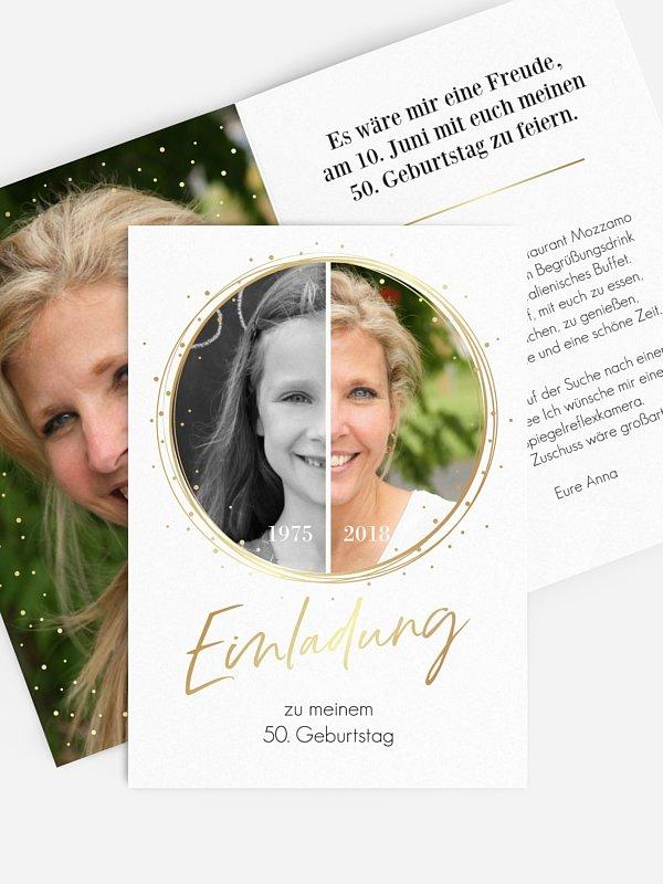 Einladung 50. Geburtstag Wandel der Zeit