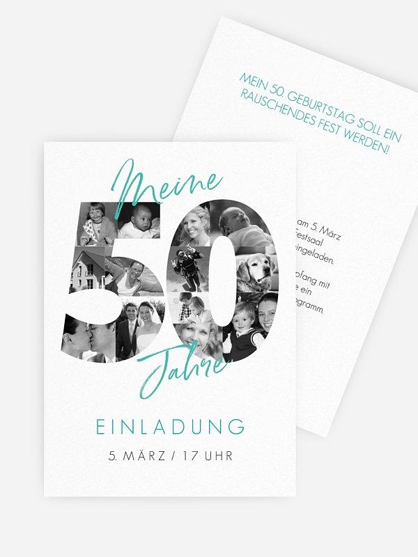 Einladung 50. Geburtstag Fotojahre