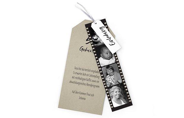Einladungskarten 50 Geburtstag Filmstreifen