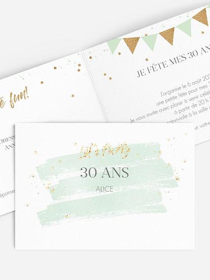 Extraordinaire Carte invitation anniversaire 30 ans : large choix de modèles CM-82