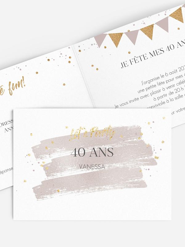 invitation anniversaire 40 Jour festif