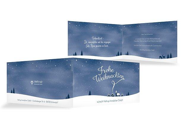Geschäftliche Weihnachtskarten 2018 – mit Logo drucken