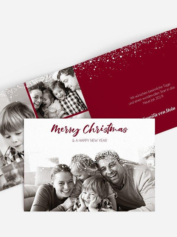 Weihnachtskarte Schneegeflüster