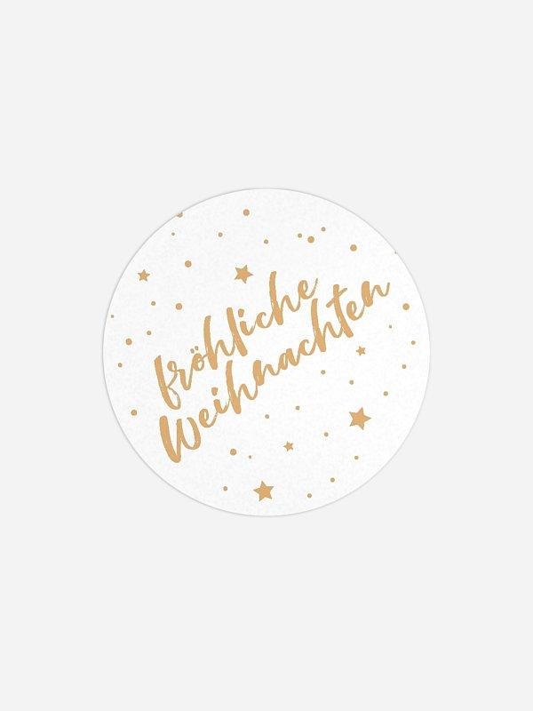 Geschenkaufkleber Weihnachten Starlight