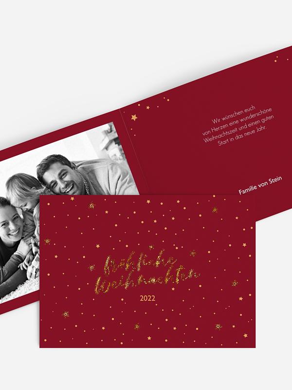 Weihnachtskarte Starlight