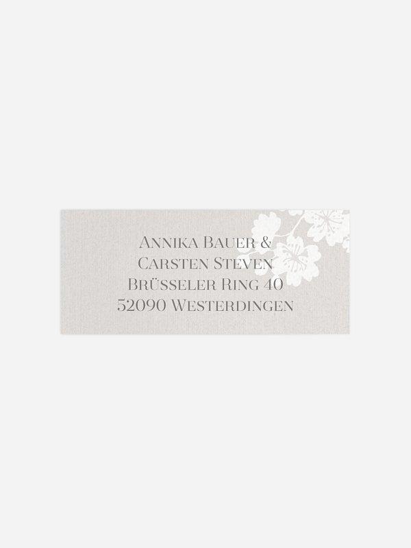 Absenderaufkleber Hochzeit Frühlingsblüte Premium