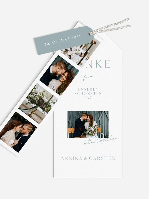 Dankeskarte Hochzeit Purely