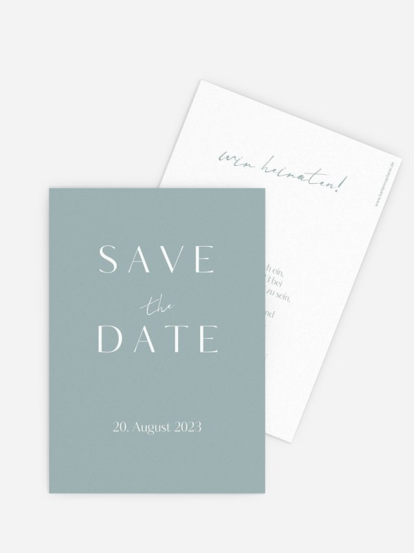 Save-the-Date Karte Purely